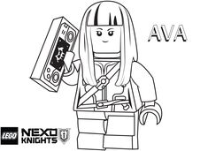 LEGO Nexo Knights Coloring Pages : Free Printable LEGO Nexo Knights Color Sheets