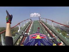 Watch This Motorcyclist Do Backflips On A Roller Coaster | This is freakin' nuts!