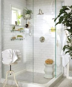 I want this in my bathroom right now! Just add a bench seat and I'd be set!!!!