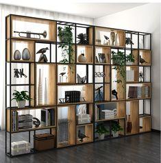 Living Room Partition Design, Living Room Divider, Room Partition Designs, Wood Partition, Room Divider Bookcase, Home Room Design, Living Room Designs, House Design, Home Furniture