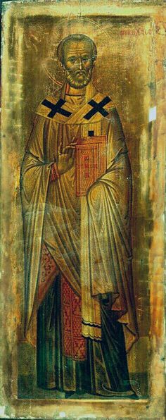 St Nicholas the Wonderworker and Archbishop of Myra in Lycia, Sinai, 14th century (or the end of 13th)