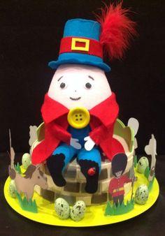 Handmade+Easter+Bonnet/Hat++Humpty+Dumpty+ Boys Easter Hat, Easter Bonnets For Boys, Easter Hat Parade, Ben Easter, Easter Eggs, Crazy Hat Day, Crazy Hats, Hoppy Easter, Easter Gift