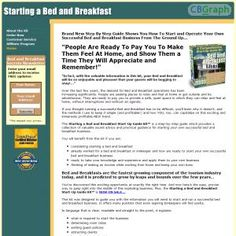 Complete Business Package To Help You Start And Operate Your Own Successful Bed And Breakfast Business! See more! : http://get-now.natantoday.com/lp.php?target=bedbrkfast