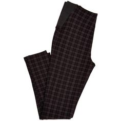 Plaid Elastic-Side Leggings (41 BRL) ❤ liked on Polyvore featuring pants, leggings, bottoms, trousers, legging pants, tartan plaid pants, elastic pants, tartan trousers and plaid pants