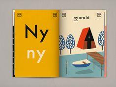 Aprende el alfabeto con el diario ilustrado de las vacaciones de Rebeca por Anna Kövecses