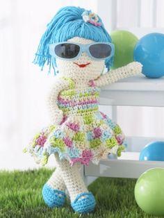 Lily Fun in the Sun Doll | Yarn | Free Knitting Patterns | Crochet Patterns | Yarnspirations