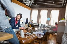 Stock Photo : Entrepreneurs working in creative office space