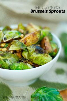 honey balsamic pan seared brussel sprouts