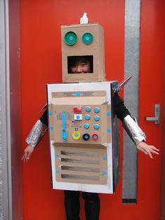 Master Maker Jenny sporting her Makedo Robot Costume
