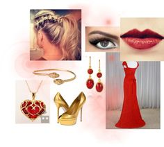 """""""Gryffindor Yule Ball"""" by khsnyder ❤ liked on Polyvore"""