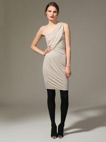 Jersey Draped One Shoulder Dress by Yigal Azrouël at Gilt