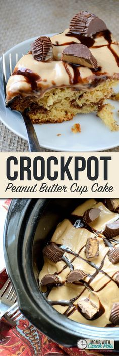 This is the holy grail of crockpot dessert recipes. You have to try this amazing Crockpot Peanut Butter Cup Cake Recipe!