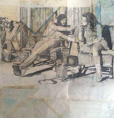 la maladie d'amour, 30 x 24 cm, paper mounted on wood, by jan schmelcher 2016