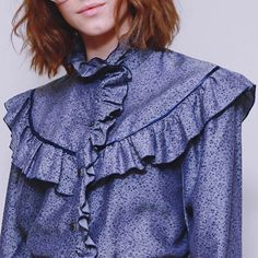 Seventies #spring ruffles online @asosmarketplace  #peekaboo #vintage #marvie #seventies #asosmarketplace #fashion #style #love #shopping #ruffles #floral #ontrend #trend #blouse ### #peekaboovintage  Peekaboovintage.com