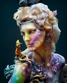 Ragne Sigmond...yeah, it's body paint #sfx #makeup #halloween. This is insane