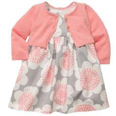 Amazon.com: Carter's Baby-girls Cardigan Dress Set: Clothing