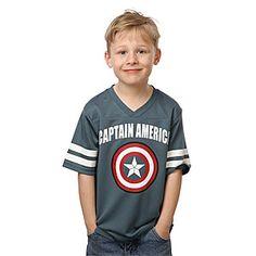 ThinkGeek :: Captain America Kids' Football Jersey