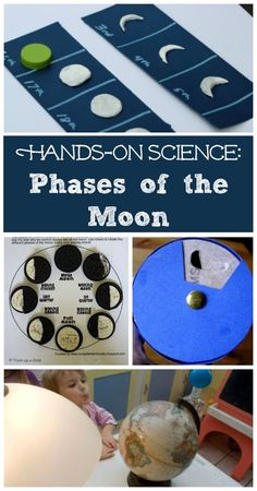 7 Moon Activities for Kids Phases of the Moon is part of DIY Kids Crafts Science - Kids will explore the phases of the moon using playdough, Oreo cookies, books, moon viewers and more fun & easy handson science activities! Space Activities For Kids, Moon Activities, Group Activities, Sensory Activities, Sensory Play, Moon Projects, Projects For Kids, Kids Crafts, Stem Projects