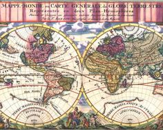Old World Map 1680