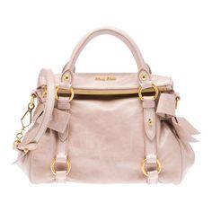 mui mui bag. i'm not a big fan of pink, but this is cute.