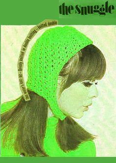 Pdf Vintage 1960s Ladies Helmet Hat Knitting Pattern EASY