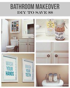 Bathroom makeover on the cheap #DIY #homedecor
