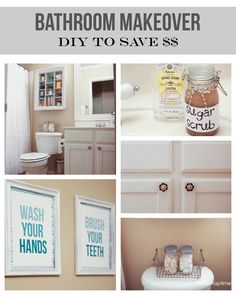 Bathroom makeover on the cheap #DIY #homedecor