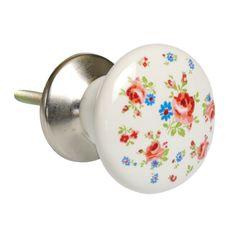 La Petite Rose Ceramic Drawer Knob | DotComGiftShop