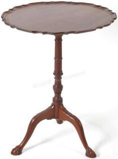 A mahogany tilt-top tea table, ball and claw foot, acanthus carvings #tilttop #table #wickliffauction