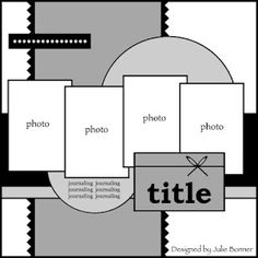 Love the idea of taking a scrapbook template and using it to design a bulletin board! THIS is blog-worthy!