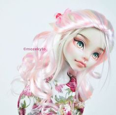 Here are more pictures of the sweeter version too! Custom Monster High Dolls, Monster High Repaint, Custom Dolls, Bjd, Doll Crafts, Diy Doll, Pretty Dolls, Beautiful Dolls, Barbie