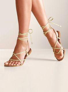 Colin Stuart® Braided Ankle-wrap Sandal $29.00