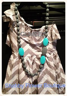 GUMEEZ Teething Necklace Quatro 30inches long by Gumeez on Etsy