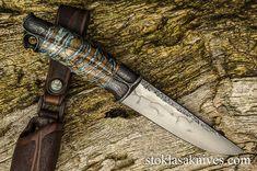 Damascus Knife, Handmade Knives, Fixed Blade Knife, Custom Knives, Knife Making, Roman, Tools, Zombie Apocalypse, Edc