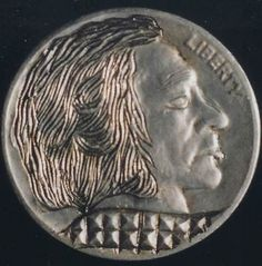 Elmer Villarin Hobo Nickel, Carving, Wood Carvings, Sculptures, Printmaking, Wood Carving