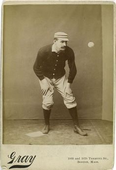 Joe Mulvey (1800s)--  We thought our Kennedy's Fans would appreciate this album of old baseball pictures from the New York Public Library (and some of the mustaches from the 1800s)