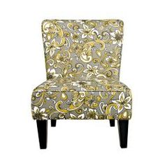 @Overstock - The Portfolio Hali armless chair features a rolled broad back, deep seat cushion and thick foam cushion for extraordinary comfort. The Hali chair is covered in a beuatiful floral fabric.http://www.overstock.com/Home-Garden/Portfolio-Hali-Lily-Floral-Grey-Armless-Chair/6807975/product.html?CID=214117 $214.99