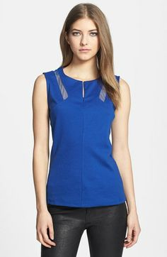 Trouvé Mesh Inset Ponte Tank available at #Nordstrom