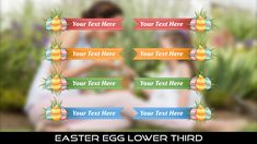 Buy Easter Egg Lower Thirds by MondayMotion on VideoHive. Easter Bunny, Easter Eggs, Lower Thirds, Yellow Sun, Red Ribbon, 10 Seconds, Joy, 2 Colours, Holiday