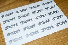 20 stickers adesivi GRAZIE, ringraziamento bomboniera, decorazione, matrimonio di Verifly su Etsy https://www.etsy.com/it/listing/212152633/20-stickers-adesivi-grazie