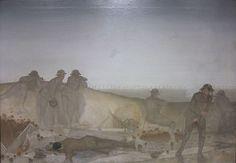 A German Attack on a Wet Morning, April 1918 by Harold Sandys Williamson World War One, First World, Ww1 Art, Manchester Art, Art Uk, Wwi, Battle, Art Gallery, Photos