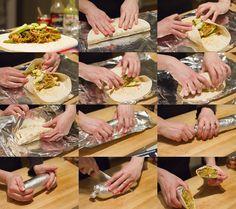 bob-le-chef-how-to-fold-burrito Mexican Food Recipes, Vegetarian Recipes, Healthy Recipes, Healthy Food, Guacamole Salsa, Clean Recipes, Cooking Recipes, Tortillas, Chicken Wrap Recipes