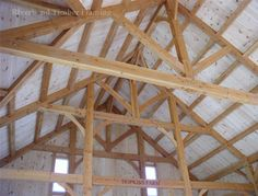 A beautiful timber frame structure for you barn home or your timber frame barn, stable, arena or pavilion! Custom Home Designs, Custom Homes, Timber Frame Homes, Classical Architecture, Floor Plans, Barn, House Design, Ceiling Lights, Pavilion