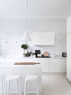 Minimalist Modern White Kitchen