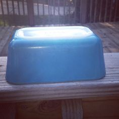 Pyrex vintage primary blue fridgie by TaliGirl77 on Etsy