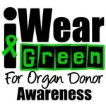 I Wear Green For Organ Donor Awareness T-Shirts