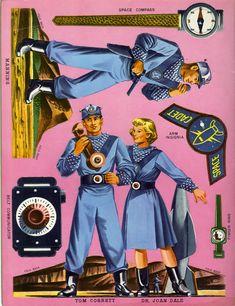 Tom Corbett Space Cadet Push-Outs (1952)