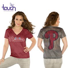 Philadelphia Phillies Women's Authentic Font Personalized T-shirt ...