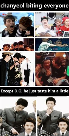 kekeke CHanyeol must be hungry so i fed him people~~ kekeke but he is only allowed to eat D.O like .5% kekeke~