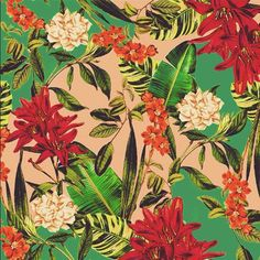 Pattern, botanical, flower,